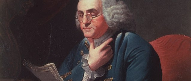 Benjamin Franklin by David Rent Etter (1835). Source: NPS
